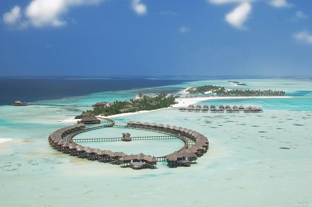Shallow lagoons and deep blue waters, Maldives